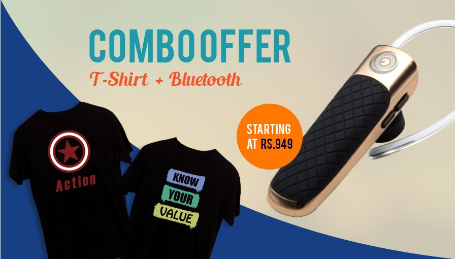 combo offer t-shirt bluetooth