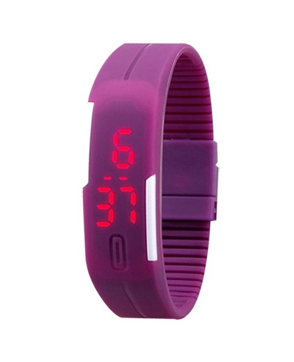 Special Purple Silicone Led Bracelet Band Watch for Girls